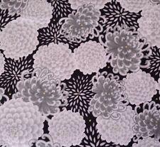 Yoriko Dependable Kimmedoll BTY Quilting Treasures Asian Black Gray Mum Floral