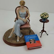 Franklin Mint Princess Diana Doll Without Box Seated Diana Forever