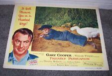 FRIENDLY PERSUASION 11x14 GARY COOPER/RICHARD EYER orig lobby card movie poster