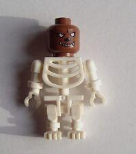 Lego 3x squelette blanc Lycanthrope tête Werewolf loup-garou Mini figurine Neuf