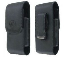 Black Leather Case Pouch Holster with Belt Clip for Tracfone LG 220C LG220c