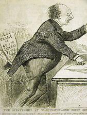 Political Cartoon 1875 SPEAKER of the HOUSE Jackass Power Print Matted