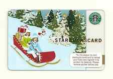 STARBUCKS GIFT CARD ~ 2007 RUSH DELIVERY SLEIGH RIDE ~ NEW UNUSED