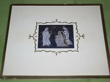 JIMMY DURANTES CHRISTMAS CARD VINTAGE THE 3 KINGS AND STAR OF BETHLEHEM SCENE