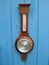 Barometer vintage dark Oak Banjo type in great condition British made  B3