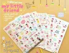 #32 Cute my little friend cartoon pvc stickers notebook diary deco 6sheets/set