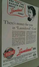 1938 Philadelphia Reading Coal & Iron Co. Mine Laundered Anthracite Poster Repo
