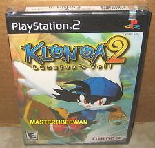 PS2 Klonoa 2: Lunatea's Veil 1st Print New Sealed (Sony PlayStation 2, 2001)