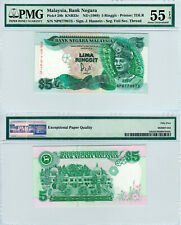 Malaysia $5 P#28a (1986) PMG 55 EPQ