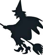 Halloween Witch Sticker Wall Window Car Floor Desk black Vinyl Decal kids fun