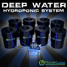 "Hydroponic System - Deep Water Culture DWC 8 Growing Sites w/6"" Lids"