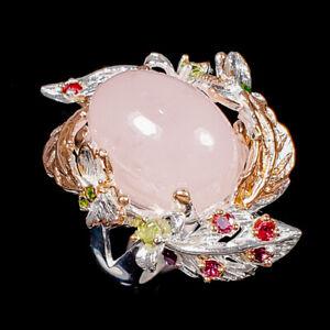 Sweet AAA pink gem Morganite Ring Silver 925 Sterling  Size 8 /R177241