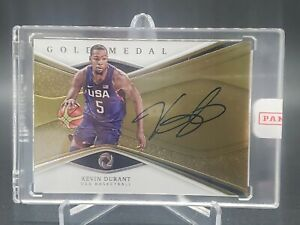 2019-20 Panini Opulence Kevin Durant Gold Medal Auto /79 On Card Auto Encased