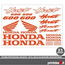 KIT STICKER ADESIVO HONDA HORNET 600 STICKERS ADESIVI HORNET600 ARANCIO FLUO