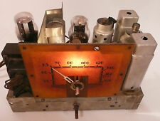 vintage * RCA 84 BT6 RADIO part:  NON-WORKING CHASSIS / good graphic TUBES LITE