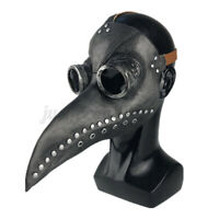 Plague Doctor Masks Birds Long Nose Beak PU Leather Steampunk Party Cosplay Tool