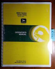 John Deere 8000 Series Grain Drill S/N 52968-61876 Owner's Operator's Manual '82