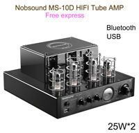 Nobsound MS-10DMKII Tube Amplifier Stereo Audio HiFi Headphone bluetooth USB amp