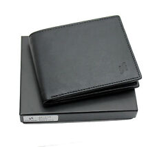 STARHIDE MENS REAL LEATHER WALLET WITH ID ZIP COIN POCKET GIFT BOXED 115-BLACK