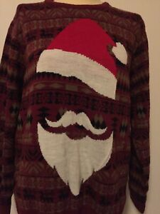 RUN AND FLY JUMPER RARE DESIGN CHRISTMAS JUMPER PULLOVER QUIRKY DESIGN SIZE XL