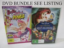DVD BUNDLE x4 - Barbie x2 , Lego Friends, The Little Mermaid - RRP$40