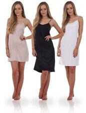 Ladies Seconds Plain Cling Resitant Underskirt Anti Static Petticoat Full Slip