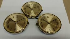 "CLOCK INSERT / fit-up brushed brass face, 3 PACK, 3"" hole, NEW, 280AG"