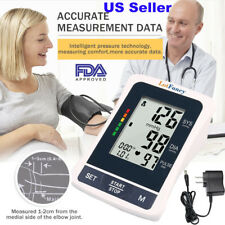 Auto Digital Arm Blood Pressure Cuff Monitor Home Measurement BP Machine Adapter