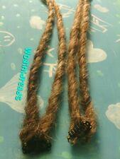 1 Clip in Twist Dirty Ash Blonde Synthetic Dreads Dreadlocks