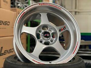 NEW 15x8J EVO Regamaster design Silver wheel (set of 4) 4x100 Honda Toyota Kia