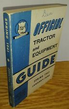 New ListingNrfea Official Tractor and Equipment Guide Spring 1961