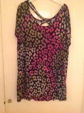 NEXT Black n Pink Geometric Pattern Dress - Size 18