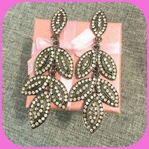 orecchini con strass svaroski, orecchini con pendenti per serata elegante
