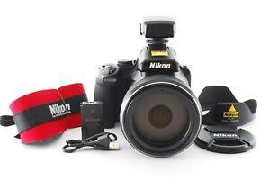 """Nikon COOLPIX P1000 16.0MP Digital Camera Black 125x """"Almost Mint w/DF-M1"""" Japan"""