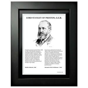 """Lord Stanley of Preston HHOF Legends Photo (Size: 14"""" x 18"""") Framed"""
