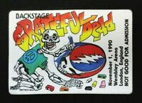 Grateful Dead Backstage Pass Wembley London England UK Europe 11/1/90 11/1/1990