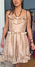 marc jacobs Nude Brocade Ruff short stripe sleeve party Dres8US RRP £838