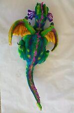 "Melissa & Doug Lifelike & Loveable Stuffed Animal Dragon Rainbow 48""x20"""