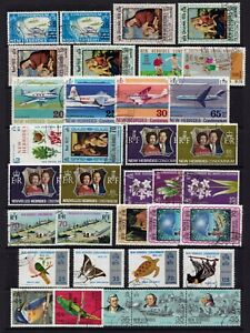 New Hebrides selection of fine used 1970s issues in both languages