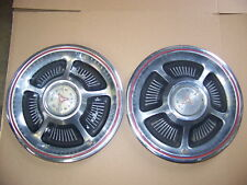 """1970 DODGE CHARGER CHALLENGER 14"""" HUBCAPS OEM PAIR #2944441"""