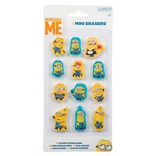 Despicable Me Minion  12 Mini Erasers/ Rubbers