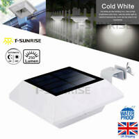 Solar Light Sensor 6 LED Gutter Light Outdoor Wall Roof Garden Lamp Cold White