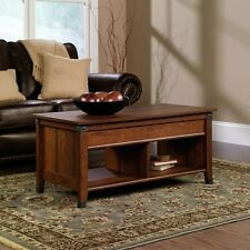 Lift Top Coffee Table Cherry Storage Shelves Accent Display Bench Desk Cocktail