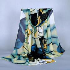 Fashion Lady Long Wrap Women's Shawl Chiffon Scarf Scarves Blue