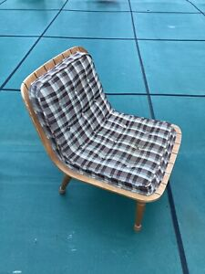 MCM  Carter Brothers Of Carolina Bent Plywood Scoop Chair  Upholstered Cushion