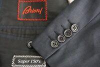 Brioni Palatino Blue Gray Jacquard Plaid Super 150s Wool Sport Coat Jacket 46R