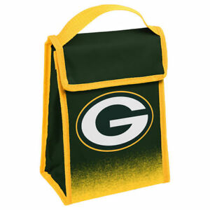 """Green Bay Packers Insulated Lunch Bag Box Cooler Gradient Team Logo 9"""" 7"""" x 4.5"""""""