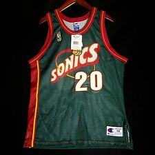 100% Authentic Gary Payton Sonics NBA @50th Champion Jersey Size 48 XL L - kemp