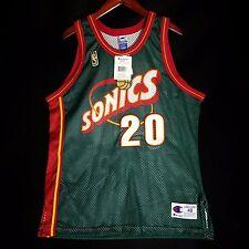 100% Authentic Gary Payton Sonics NBA @50th Away Champion Jersey Size 48 XL NWT