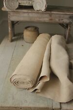Antique hemp upholstery fabric linen material WASHED 10 YARDS x 25.5in WIDE